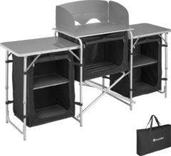 Tectake - campingkeuken afm. 172 x 52 x 104cm zwart - 403344