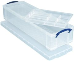 Really Useful Box opbergdoos 22 liter met 2 dividers transparant