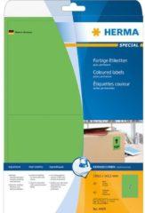 Gekleurde etiketten Herma 4499 A4 199,6x143,5 mm groen verwijderbaar papier mat 40 st.
