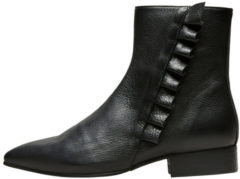 SELECTED Leather - Boots Women Black