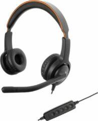 Zwarte Axtel Headsets Axtel Voice UC40 duo NC USB koptelefoon voor PC/Laptop | Office Headset, Thuiswerk en Muziek | Skype for Business