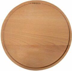 Bruine Boska Pizzaplank Amigo L - Serveerplank ⌀34cm - Beukenhout - Met opvanggeul - Rond