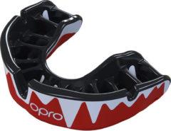 Zwarte Opro Sportbitje Self-fit Gen4 Platinum Fangz Unisex Zwart