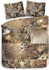 Gouden Heckettlane Heckett & Lane Eli - Dekbedovertrek - Eenpersoons - 140x200/220 cm + 1 kussensloop 60x70 cm - Copper Gold