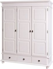 Woody Möbel Kleiderschrank Kiefer massiv weiss lackiert FSC zertifiziert