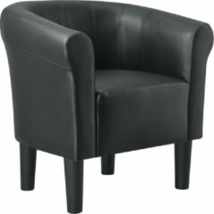 En.casa Fauteuil schelpen fauteuil - zwart