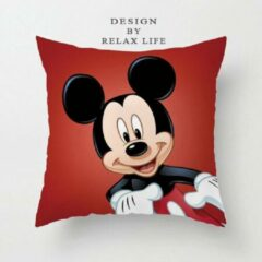 Rode Harani Kussenhoes Mickey Mouse (45x45cm)
