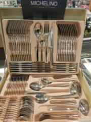 Zilveren Michelino Prachtige bestekset van het merk michellino -goudkleurige afwerking 56456