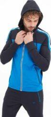 Blauwe SCR. Moro Winter Sweatvest Met Capuchon