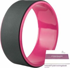 JAP Sports - Yoga wiel - 34 poses trainingboek - Pilates Wheel - Fitness Sport Roller - 33cm - Roze