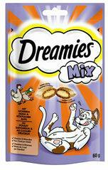 Dreamies Cat Snacks Mix - Kip & Eend - 60 gram