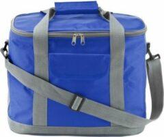 Merkloos / Sans marque Koeltas blauw/grijs met verstelbare band - 17 liter - Koeltassen voor onderweg/op het strand