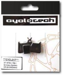 Zwarte Cyclotech Components Prodisc Kevlar Remblokken voor Shimano Deore XT BR-M 755