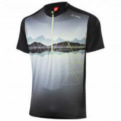 Löffler - Bike Shirt Half-Zip Peaks - Fietsshirt maat 54, grijs/zwart