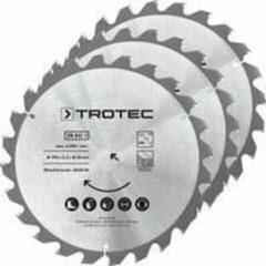 TROTEC Cirkelzaagbladenset voor hout Ø 190 mm (24 tanden), 3-delig