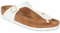Teenslippers model Gizeh Van Birkenstock wit