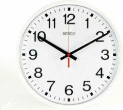Witte BerdoTime 40 cm Quartz klok met stil uurwerk