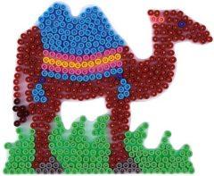 Hama strijkkralen grondplaat kameel wit (294)
