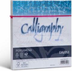 Perkament 25 enveloppen 170 x 170 CH 90 g/m2 inkjet kleur Wit PERGAMENA Calligraphy Bianco 01 FAVINI wenskaarten