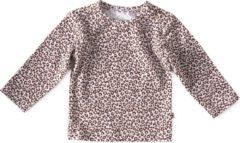 Little Label - baby - shirt - bruin, luipaard - maat 80 - bio-katoen