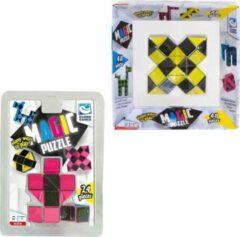 Clown Games Clown Magic Puzzle 48dlg Geel + Puzzle 3d 24 Dlg Roze