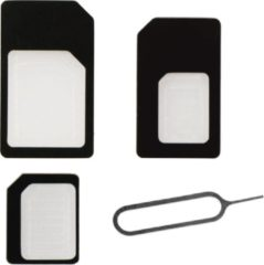 Zwarte BeHello SIMcard Adapters (SIM, Micro SIM, Nano SIM)