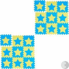 Blauwe Relaxdays 18 x puzzelmat ster - speelmat - speelkleed - vloerpuzzel - speeltapijt – kinder