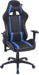 VidaXL Sedia da Ufficio Racing Reclinabile in Pelle Sintetica Blu