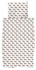 Bruine SNURK James Dekbedovertrek 100 x 135 cm