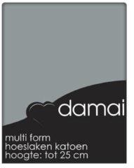Hoeslaken katoen 80-90-100 x 200/210 (95) grey multiform (1 pers.) Damai