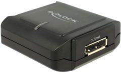 Zwarte DeLOCK 11464 Displayport 20 pin, DC 5V Displayport 20 pin Zwart kabeladapter/verloopstukje
