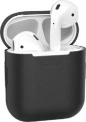 Case2go Apple Airpods Hoesje - Siliconen Case voor Airpods 1 en Airpods 2 - Zwart