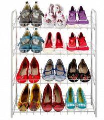 Grijze Tomado - Metaltex Tomado - Shoe 4 Schoenenrek - 4 etages - 12 paar schoenen