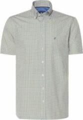 Gele Campbell Classic Casual Overhemd Heren korte mouw