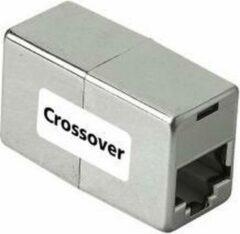 Grijze Hama CAT 5 Cross-Over Adapter 8p8c, 2x Jack RJ 45 2xRJ 45 male Grijs kabeladapter/verloopstukje