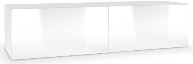 Afbeelding van Home Style Tv-wandmeubel Livo 160 cm breed in wit met hoogglans wit