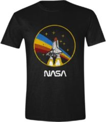 Zwarte NASA Shirt – Rocket Circle Maat S