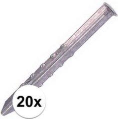 Zilveren Merkloos / Sans marque 20x Tentharingen mammoet 40 cm