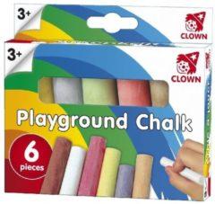 Clown Games Clown Stoepkrijt - 6 Stuks
