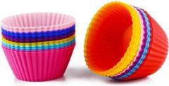 Diamondheart Siliconen Cupcake Vormpjes 12 stuks, Cupcake cups, Muffin Bakvormen, Gebak, Taartjes, Bakvormen