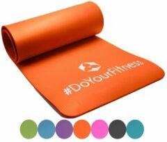 #DoYourFitness - fitness mat perfect voor pilates, aerobics, yoga - »Yogini« - non-slip, duurzaam, huidvriendelijk, slijtvast - 183 x 61 x 1,0cm cm - oranje