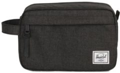 Zwarte Herschel Supply Co. Chapter Toilettas black crosshatch Toilettas