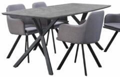 Zaloni Eettafel Dayna 160 of 190 cm breed - Grijs beton