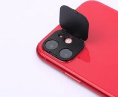 *PREMIUM* IN-VI® Rear Camera Lens Protector/ Cover Zwart voor iPhone 12 // ✓ Camera Cover & Protecor in 1 ✓ Betrouwbaar 3M glue ✓ Anti Spy ✓ Ook geschikt voor op telefoonhoesjes