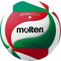 Molten Volleybal V5m2200 Kunstleer Wit/groen/rood Maat 5