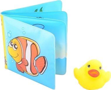 Afbeelding van Blauwe Merkloos / Sans marque Johntoy Happy World Piepboekje met Eend - Baby Water badspeelgoed - Peuter Kleuter Speelgoed