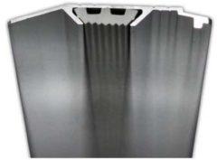 Liniaal Aristo 30cm aluminium met rubber inleg
