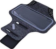 Ntech Sportarmband Fabric/Stof Apple iPhone 11 - Zwart/Grijs