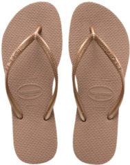 Roze Havaianas Slippers Flipflops Slim Roségoudkleurig Maat:33/34