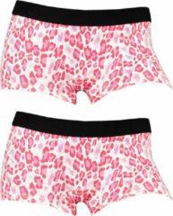 Funderwear meisjes boxershorts luipaard 2-pack - 176 - Roze